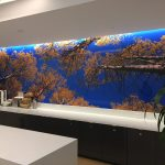 custom wall mural finished and installed