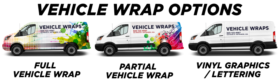 Bairdford Vehicle Wraps vehicle wrap options